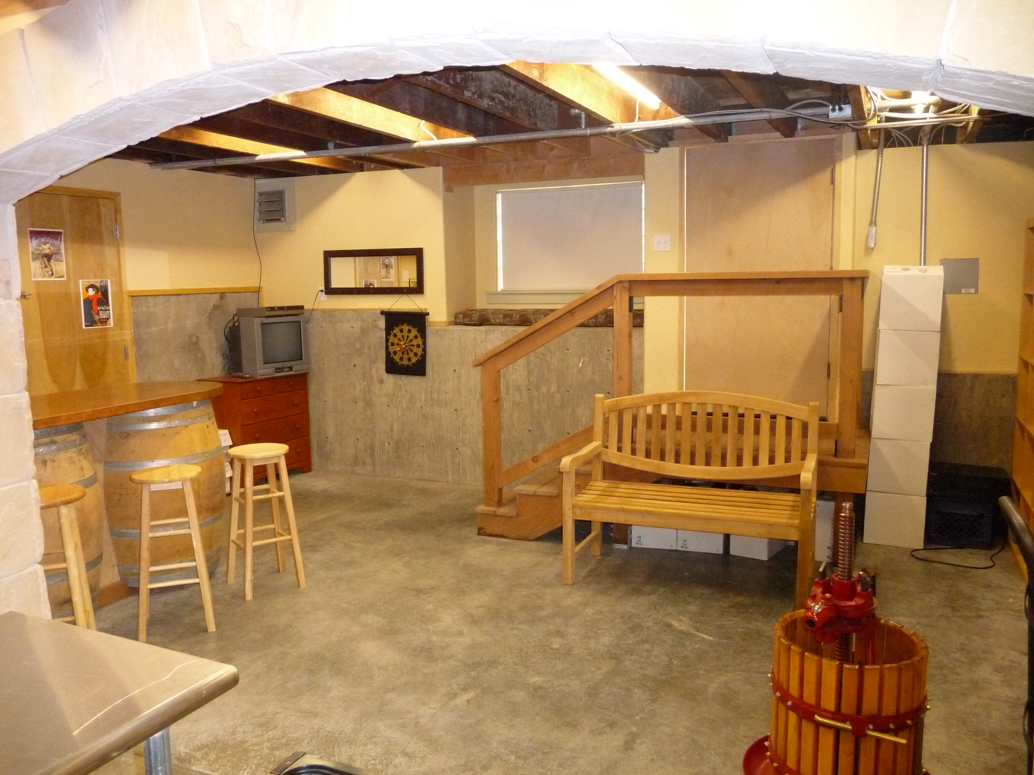 Home wine cellars stomping girl blog for What is a crawl space basement