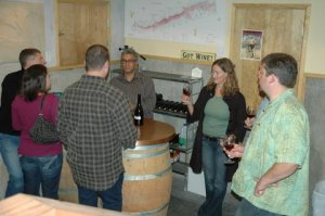 Stomping Girl Barrel Tasting (click for slideshow)