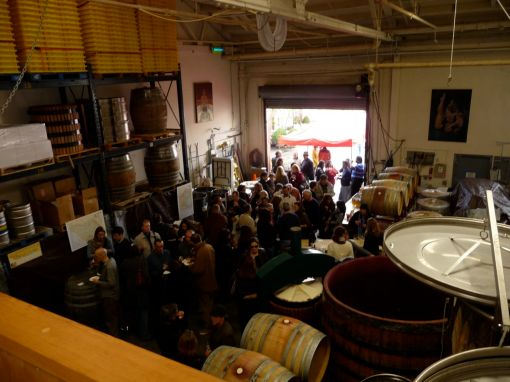 The crowd at Stomping Girl Wines Party