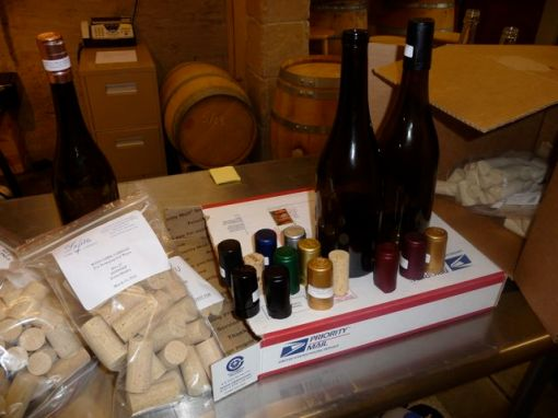 bottles, capsules and cork samples